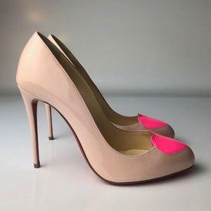 Louboutin Doracora 100 Ballerina Pink Pumps 35.5
